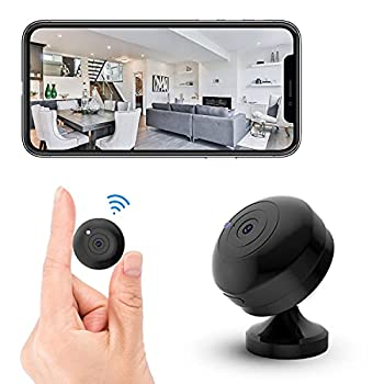 FECOMI Mini Spy Camera WiFi Hidden Cam 1080P Small Portable Wireless Nanny Cam w/Auto Night Vision/Motion Activated Alarm  Security Surveillance Cam Video /Audio Recording with Cell Phone App