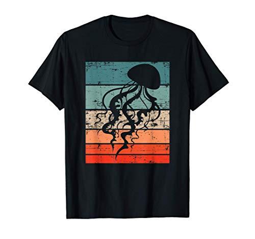 Retro Ozean Tierliebhaber Jellyfish Geschenk Qualle T-Shirt