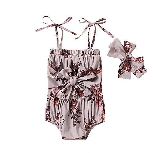 Conjunto de ropa para bebé con volantes y flores de girasol, conjunto de ropa para niña, mono + culottes y tirantes y volantes 2 marrón 100 cm
