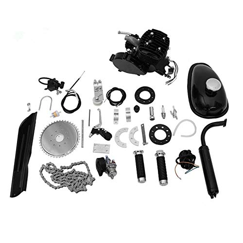 Fiudx Full Set 80cc Bike Bicycle Motorized 2 Stroke Petrol Gas Motor Engine Kit Set