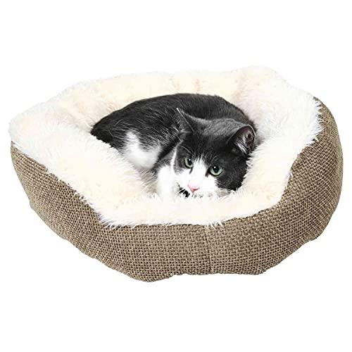 Trixie 37041 Bett Yuma, ø 45 cm, braun/wollweiß