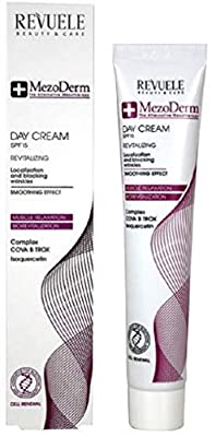 Revuele Day Cream Anti-Wrinkle, Revitalizing, Muscle Relaxation SPF15. Mezoderm Smoothing Effect, Cell Renewal.