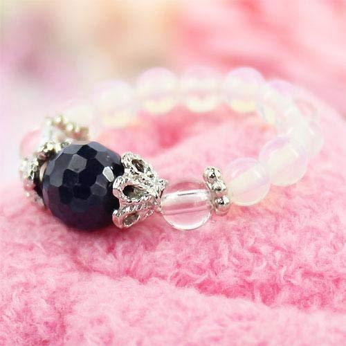かわいい天然石リング/パワーストーンのリング(指輪) メンズ/レディース【サファイア】 1点