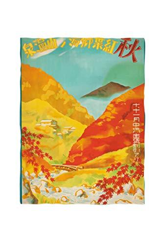 2k books Fleecedecke ca. 135 x 180 cm Japan Reiseposter Vintage