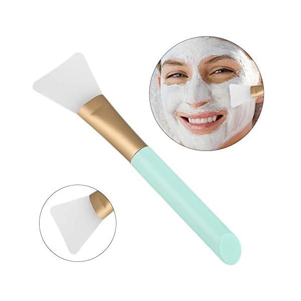 Beauty Shopping 2 PCS Silicone Face Mask Brush,Mask Beauty Tool Soft Silicone Facial Mud Mask Applicator