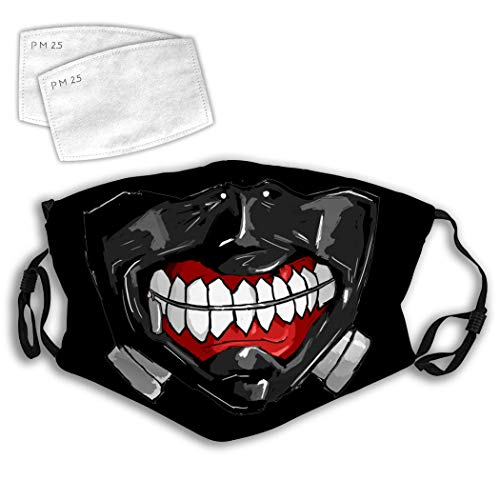 ONEFANG Kaneki Mouth Tokyo Ken Dust Mask Mouth Face Cover Adjustable Windproof Reusable Sports