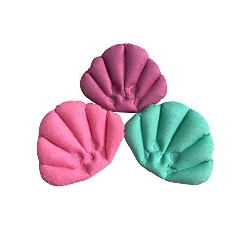 rosenice Bad cuscino gonfiabile da bagno Kur luogo di inverso di collo morbido cuscino di cuscino con ventose per vasca da bagno