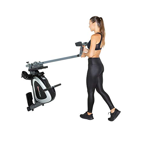 FITNESS REALITY 1000 PLUS Bluetooth Magnetic Rowing Rower with Extended Optional Full Body Exercises and MyCloudFitness App