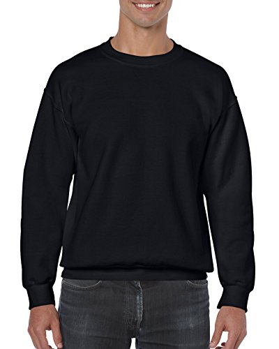 Gildan Men's Big and Tall Fleece Crewneck Sweatshirt, Black XX-Large