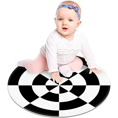 Bennigiry Schwarze und weiße Dart-Zielscheiben-Teppiche für Kinder, weich, 60 cm