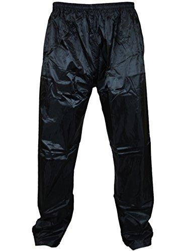 New Mens Womens Waterproof Over Trousers Rain Pants Motorcycle Fishing Hiking (Xtra Xtra Large ( XXL ), Black)