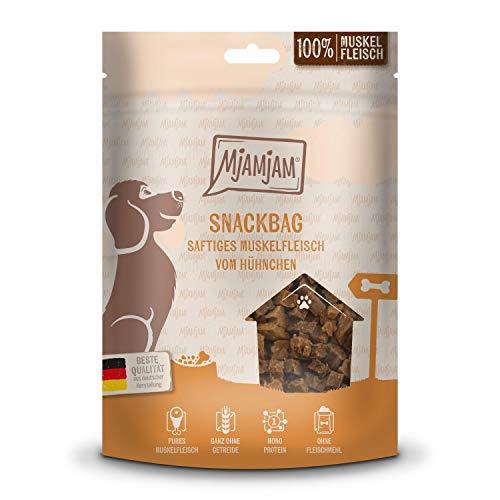 MjAMjAM - Premium Hundesnack - Snackbag - saftiges Muskelfleisch vom Hühnchen, getreidefrei, Monoprotein, 100g, 45203