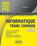 Informatique tronc commun - MPSI - PCSI - PTSI - Nouveaux programmes (Prépas Sciences)