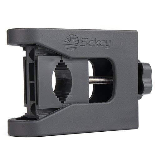Sekey® Sonnenschirmhalter Universaler Befestigung Schirmstöcke bis Ø 29mm, Sonnenschirmständer für 20mm-40mm Balkon-Geländer, Anthrazit
