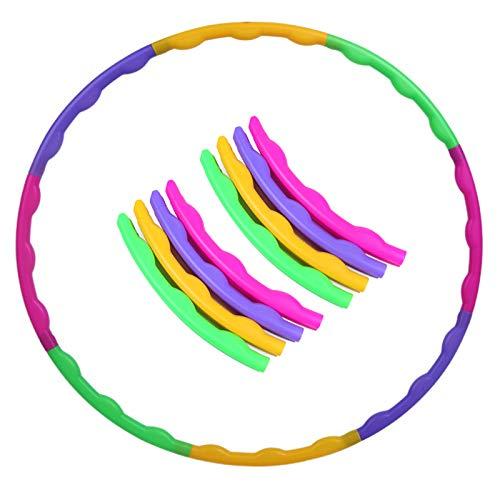 Kinder Hula Hoop, hohe Qualität, 8-teiliges abnehmbares Design, farbiger Durchmesser 65 cm, Leicht zu tragen, für Erwachsene oder Kinder ab 4 Jahren Training, Sport & Spielen, Fitness und Training