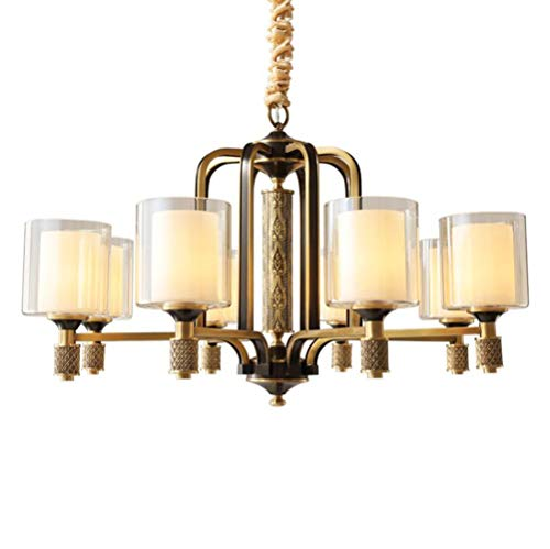 Wtbew-u retro klassiek glas ophangsysteem plafondlamp woonkamer restaurant hanglamp