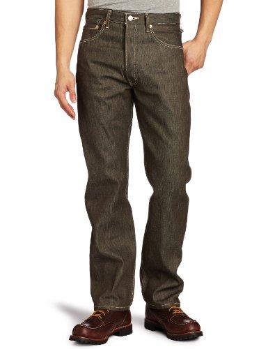 Levi's 501 Original Fit Jeans, Brown Rigid STF, 30W / 32L Homme