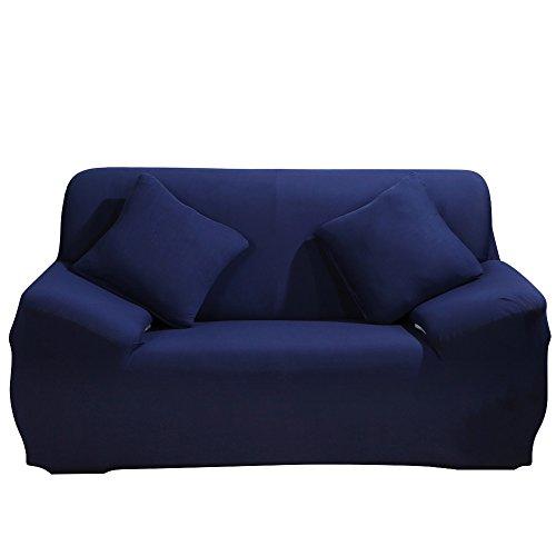 Funda elástica para sillones y sofás, Funda de sofá Antideslizante, cubierta antideslizante en tejido elástico extensible, protector, tela, negro, 1-Seater Chair + 1pcs Free Pillowcase