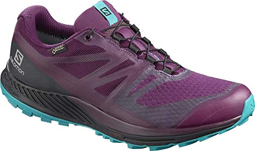 Salomon Damen Trailrunning-Schuhe, SENSE ESCAPE 2 GTX W, Farbe: Violett/Blau (Dark Purple/Black/Tile Blue), Größe: 37 1/3