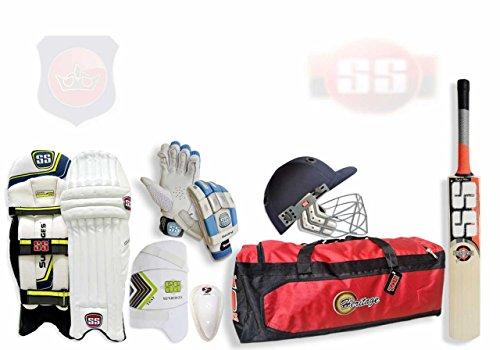 SS Mid Price Range - Kit Completo de Críquet de Batsman con Bate de Sauce Inglés
