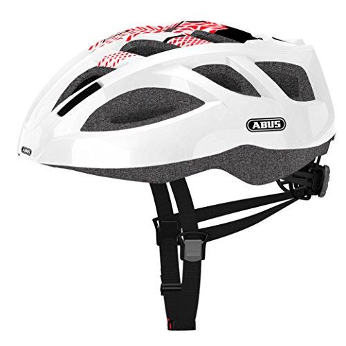 Abus Ambition Shiny Casco Bicicleta, Unisex Adulto, Blanco, M
