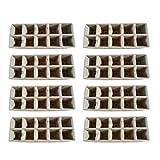 NUOBESTY Vassoio per Semi Confezione da 13 Vasi per Piante Biodegradabili per Ortaggi Fior...
