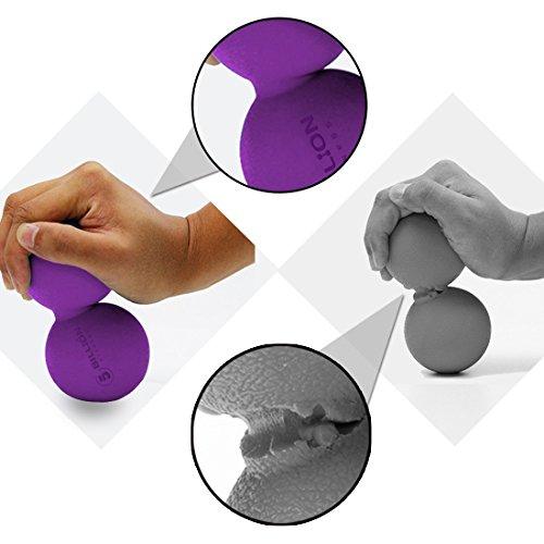 5BILLIONマッサージボールピーナッツ-ダブルラクロスマッサージボール&モビリティボール物理療法のための-ディープティッシュマッサージツール筋リリース、筋リラクサー、ツボマッサージ(パープル)