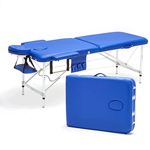 Table De Massage Pliante Professionnelle 60 X 185 Cm Lit De Massage Cosmétique Portable 2 Section...