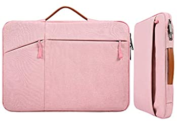 15.6 Inch Waterproof Laptop Sleeve Women Ladies Briefcase with Handle Pocket for Acer Chromebook/Predator 15.6  Lenovo Yoga 720/730 15.6 HP Spectre 15.6 MSI GS65 Toshiba Dell Inspiron Bag Pink
