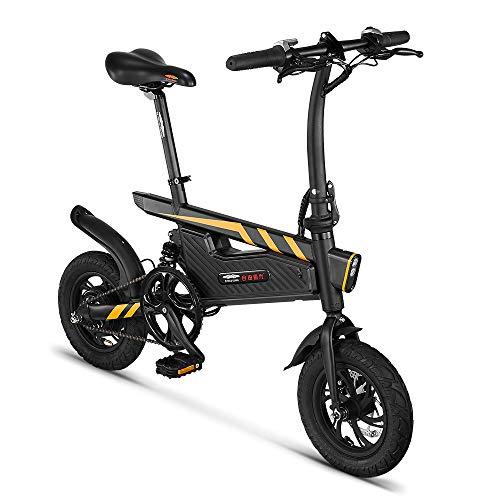 SHIJING T18 Bicicleta eléctrica Plegable de la energía de 12 Pulgadas Assist Eletric Bicicletas E-Bici 250W de Motor y Frenos de Disco de Doble eléctrica Plegable de la Bicicleta