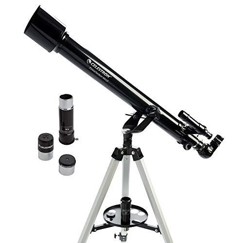 Celestron - PowerSeeker 60AZ Telescope - Manual Alt-Azimuth Telescope for Beginners - Compact and...