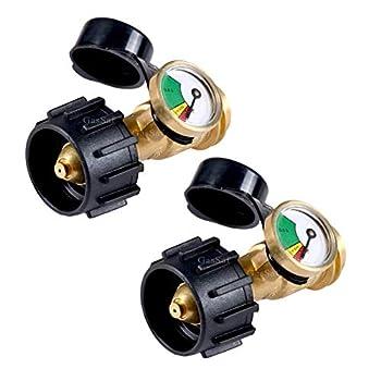 GasSaf Propane Tank Gas Gauge Leak Detector - Universal for QCC1 Type1 Propane Tank Gas Pressure Meter 2-PCS