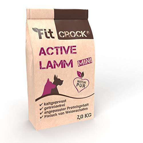 cdVet Fit-Crock Hundefutter trocken Active Lamm Mini 2 kg, getreidefrei