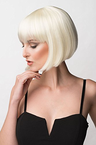 Annabelle's Wigs Carol-Anne Perruque carré Blond platine 200 g
