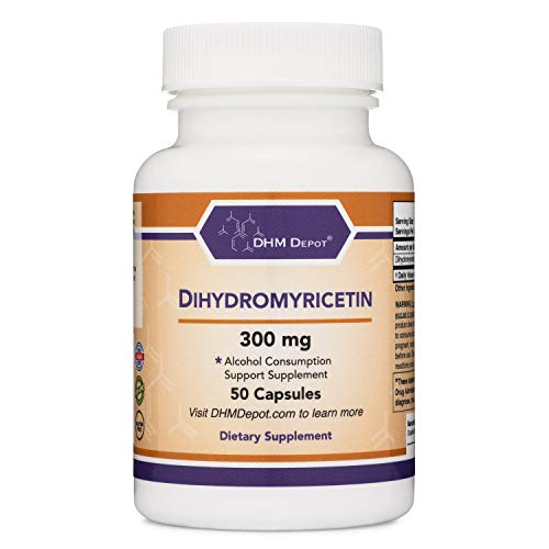 Dihydromyricetin (DHM) 50 Capsules, 300mg, Alcohol Consumption Support Supplement (Third Party Tested) Made in the USA by Double Wood Supplements (DHM Depot)