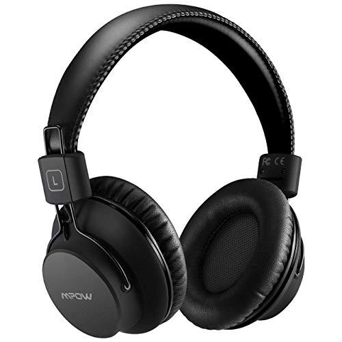 Mpow H1 Cuffie Bluetooth, Cuffie Bluetooth Over-Ear 4.1, Autonomia 20 Ore, Cuffie Wireless Con Microfono e Hi-Fi Suono e Bassi Ricchi, Passiva Riduzione di Rumore, Cuffie Per Celluallari/PC/TV-Nero