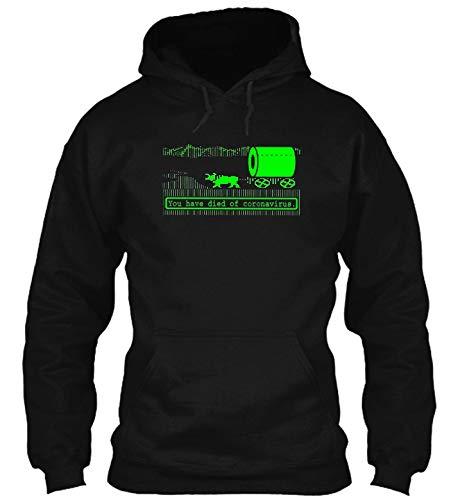 Oregon Trail -Cørønavïrus-Pandemic You Have Died of cøroñä##HDB#HDB Long Sleeve T-Shirt - Hoodie - Crewneck Sweat Black