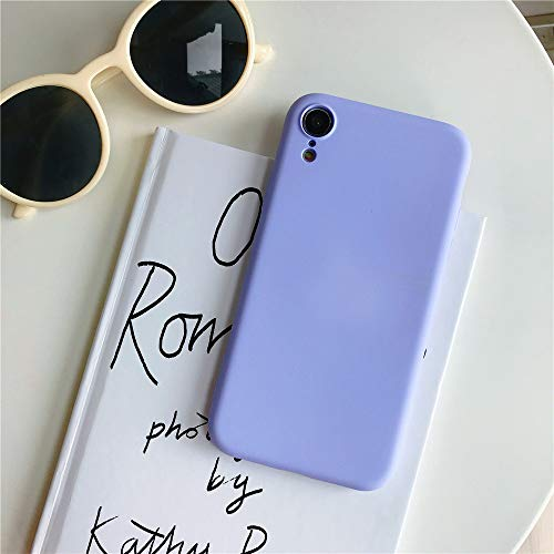 BIZHIKE Hülle für Samsung Galaxy S10Lite/S10e Hülle Matt Silikon Dünn HandyHülle Stoßfest Slim Gummi Schutzhülle Kratzfest Hülle Cover mit Soft Microfaser Tuch Futter Kissen- lila