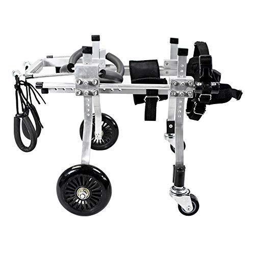 ZH1 Haustier Tasche Hund Rollstühle mit vier Rädern, Motorroller, Aluminium-Legierung Ultra-leichte Behinderte und gelähmte Haustier, Hind Limb Assist Rehabilitation Übung (größe : Xs)