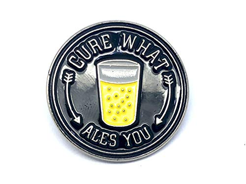 Patch Nation Bier - Cure What Ales You Metall Badge Pin Pins Radfahrer Anstecker Broschen