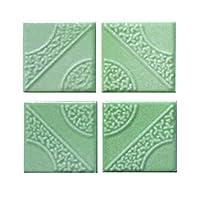 カラーデザインタイル ミントグリーン 16枚セット