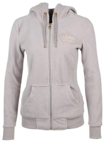 Sublevel Fleece Jacke mit Kapuze, Größe:XL;Farbe:Middle Grey