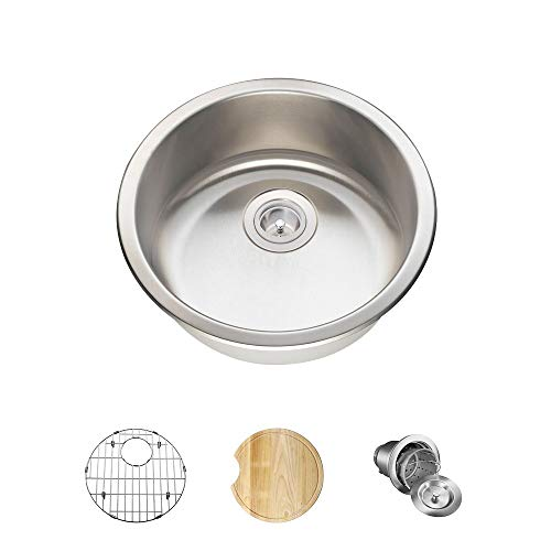 465 18 Gauge Stainless Steel Kitchen Ensemble (Bundle - 4 Items: Sink, Basket Strainer, Sink Grid,...