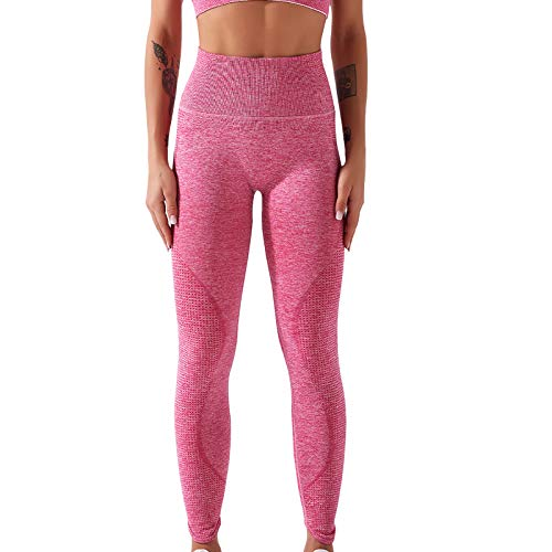 YpingLonk Mallas Pantalones Deportivos Leggings Mujer Yoga de Alta Cintura Elásticos y Transpirables para Yoga Running Fitness con Gran Elásticos