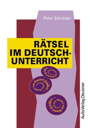 Rätsel im Deutschunterricht. Kopiervorlagen Deutsch