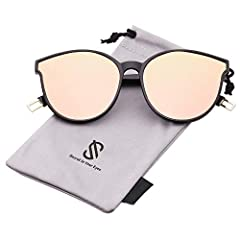UV400 PROTECTION FOR YOUR EYES – SojoS's anti-glare lenses can block 100% of both UVA and UVB radiation. UV400 rated sunglasses are essential for filtering out sunlight reflected glare and protecting your eyes against long term UV damage when you go ...