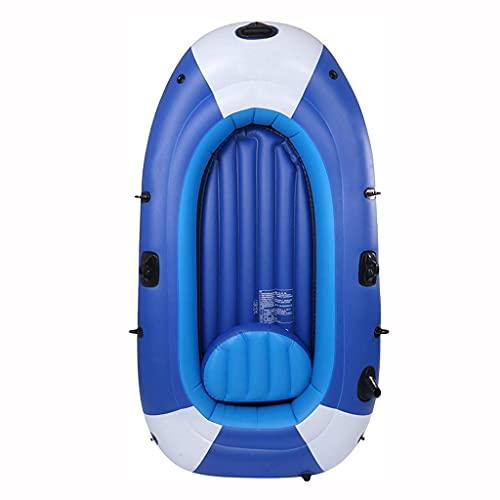 LVLUOKJ Botes Inflables Kayaks para 3 Personas Canoa Inflable con Cojines de Asiento,Bomba,Balsas Inflables de PVC Antidesgaste Bote de Pesca Bote de Deriva para Vacaciones con Familiares y Amigos