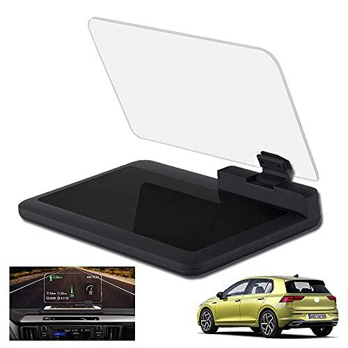 TCWDX Soporte Universal para Pantalla Frontal para automóvil con Reflejo de Imagen HD para teléfono Inteligente, velocímetro GPS Digital Luz de Giro Guía de Engranajes Pantalla de batería