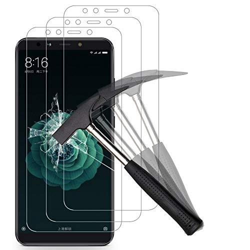 ANEWSIR [3-Pack Cristal Templado Compatible con Xiaomi Mi A2, Protector Pantalla para Xiaomi Mi A2 Templado [Sin Burbujas][Alta Definicion] [Anti - Burbujas] [Resistente a Arañazos].