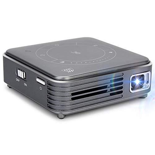 Mini-Taschenprojektor, DLP-Heimkino-Projektor, Mini-Projektor, Multimedia-Videoplayer, tragbarer 4K HD Bluetooth WiFi-Videoprojektor, multifunktionaler Decodierungsprojektor(EU)